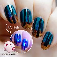 piggieluv creepy haunted woods nail art for halloween