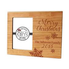 engraved wooden gifts christmas personalized photo frame hardwood walnut cherry maple