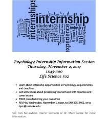 psychology internship information session roanoke college