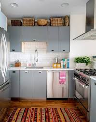 Very Small Kitchen Interior Design by Small Kitchen Cherry Red Fridge Small Kitchen Design Idea