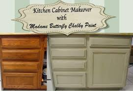kitchen cabinet chalk paint kitchen cabinet makeover with madame butterfly chalky paint