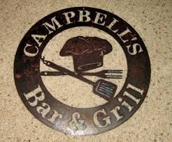 Metal Signs Home Decor by Customized Bar U0026 Grill Sign Metal Art Steel Art Bar Art Bbq