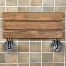teak modern folding shower seat bathroom