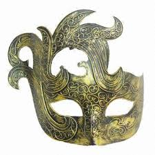 mask party china vintage party mask for men made of plastic antique bronze