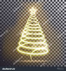 golden christmas tree light tree effect stock vector 482216758