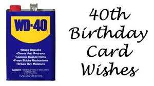 40th birthday wishes messages and poems to write in a card