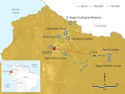 Hummingbird Map Ecuador Pete Oxford Expeditions