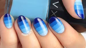 ombre color block nail art youtube