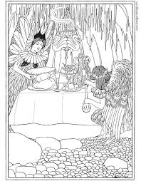 two fairies a free vintage coloring page