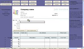 job service invoice template uniform invoice software