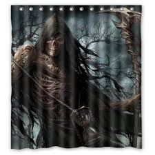 Environmentally Friendly Shower Curtain Shower Curtains Awesome Skulls