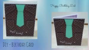 diy birthday card for dad youtube