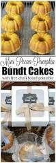 mini pecan pumpkin bundt cake recipe and gift idea clean and