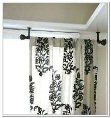 Hang Curtain From Ceiling Decorating Hang Curtains From Ceiling Curtain Rod Ceiling Mount Hardware