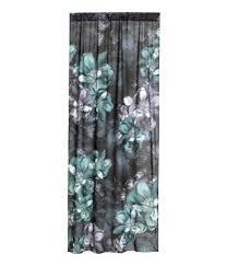 Tropical Curtain Panels 2 Pack Curtain Panels Dark Green Leaf Sale H U0026m Us