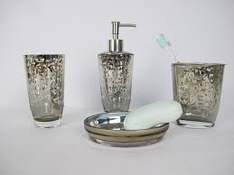 Glass Bathroom Accessories Sets December Sun