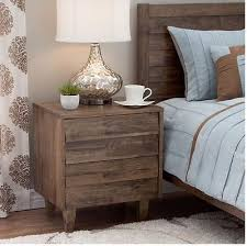 wood and iron nightstand accent end table drawer shelf vintage