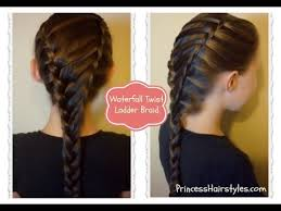 hairstyles youtube hair style videos waterfall twist ladder braid hairstyle school