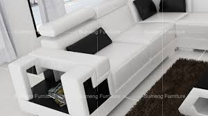 Corner Sectional Sofas by Sumeng Modern Cheap Beautiful Home Furniture Big White Leather
