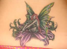 mythological fantasy fairies lowerback lower back tattoo image