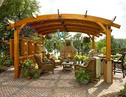 Potted Plants For Patio Exterior Beautiful Backyard Pergola Roof Design Combine With