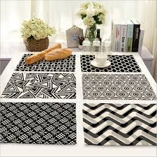black and white placemats michel design works 25 count