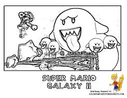 mario galaxy 2 free coloring pages art coloring pages