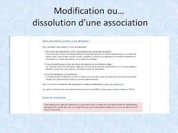 association modification bureau les e démarches 1 la création d association 2 modification ou