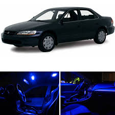 Car Led Interior Lights Amazon Com Ledpartsnow Honda Accord 1998 2002 Blue Premium Led