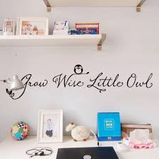 grow wise little owl quote kids nursery wall sticker