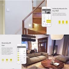 Living Room Wireless Lighting Lifesmart Three Gang In Wall Switch App Remote Control Wireless