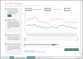 learn how to use the stock analysis template with excel 2016