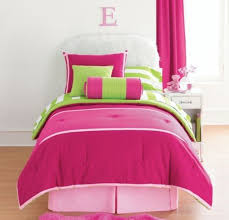 Bright Green Comforter Inspiration Pink And Green Bedding Cute Interior Home