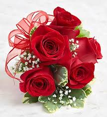 Red Rose Wrist Corsage Red Rose Corsage From 1 800 Flowers Com
