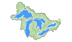 Map Of Michigan Lakes by Watersheds Great Lakes Aquatic Habitat Framework