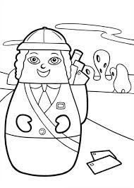 mail carrier bring mail higglytown heroes colouring