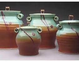 pottery kitchen canister sets 220 best lidded jars etc images on pottery ideas