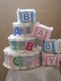 diper cake 3 tier cake abc alphabet baby shower gift centerpiece ebay