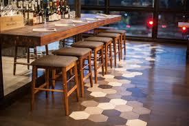 granada tile u0027s hex cement tiles at otium restaurant at la u0027s broad