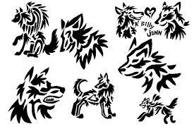 wolf tattoos black wolf