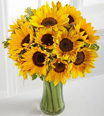 bouquet of sunflowers deluxe sunflower radiance flowers bouquet with vase
