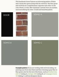 http www elegantpainting com gray colors that go with red brick