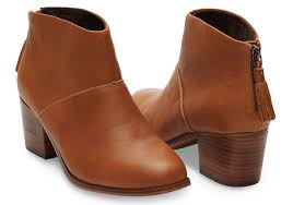 womens boots booties warm grain leather s leila booties toms