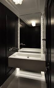 Floor To Ceiling Mirror by Cafe Ceiling Design Bathroom Contemporary With Wall Mounted Faucet