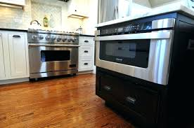 kitchen island with microwave microwave drawer in island microwave drawer in island microwave