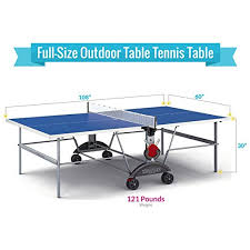how much does a ping pong table cost amazon com kettler top star xl weatherproof table tennis table