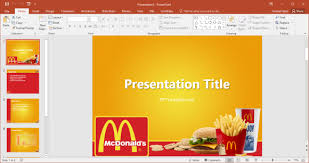 Free Mcdonald S Powerpoint Template Ppt Tempelate