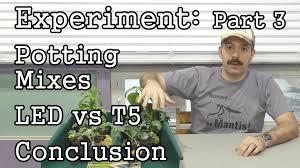t5 vs led grow lights experiment conclusion custom mix vs miracle gro led vs t5 grow