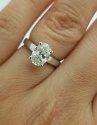 solitaire oval cut diamond 1 25 ct certified engagement