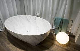 Freistehende Badewanne Freistehende Badewanne Oval Aus Marmor Kunststoff Solidea